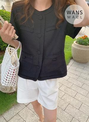 jk4997 Cuties Tweed Short Sleeve Jacket