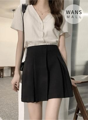 sk5010 Bonnie Pleated Mini Skirt