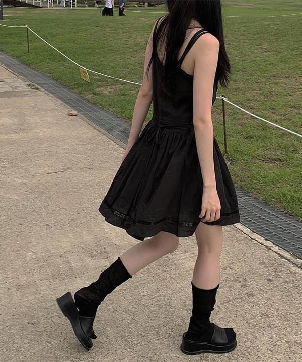 Berry Lace Sleeveless Dress