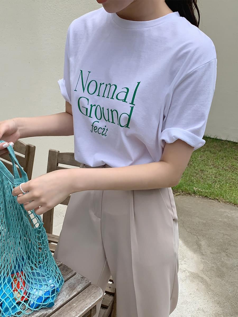 normal lettering tee