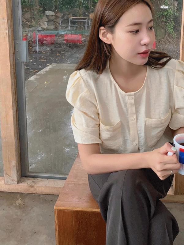 rubber pocket blouse