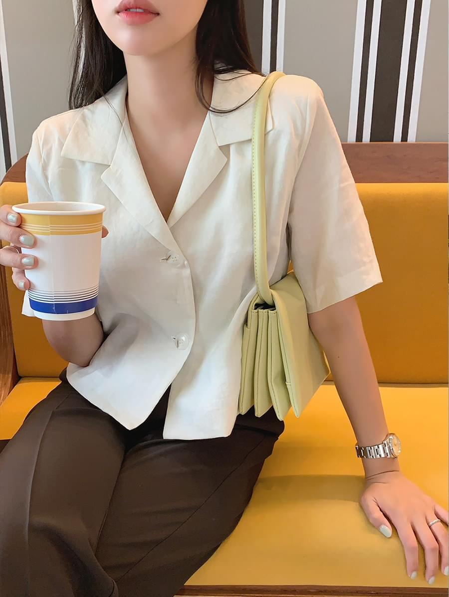linen two-way blouse