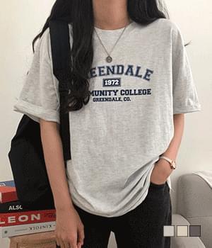 Greendale Printed Loose-fit Short Sleeve T-shirt