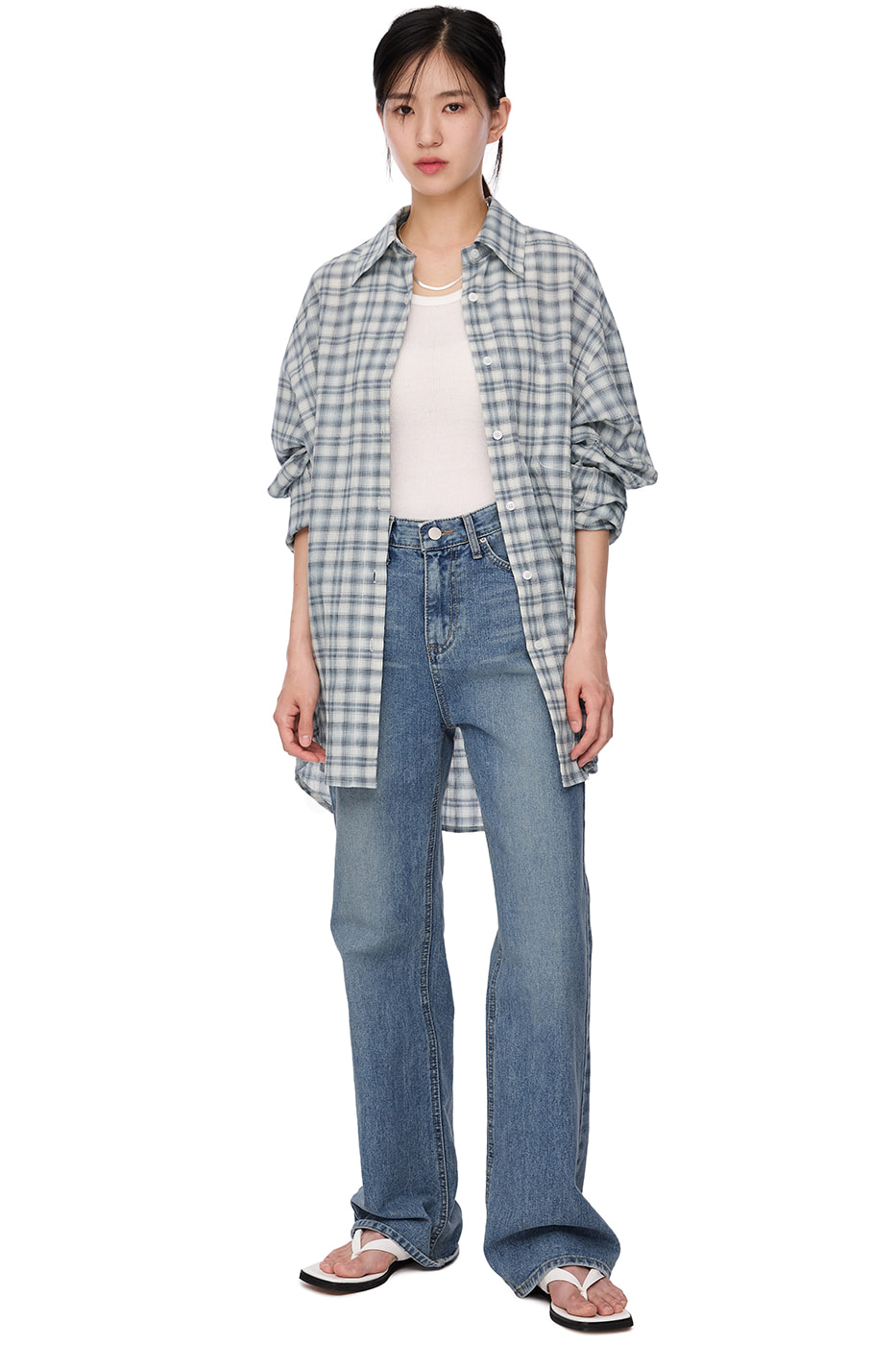 tommy check shirt