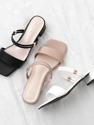 2way square outsole mules & slingback sandals 9146