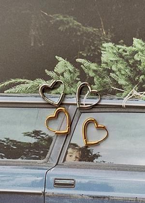 Lupus Heart Ring Earrings