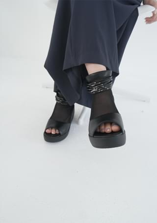 funky sheer platform ankle shoes