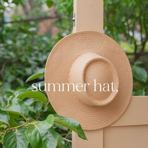 blooming raffia boater hat