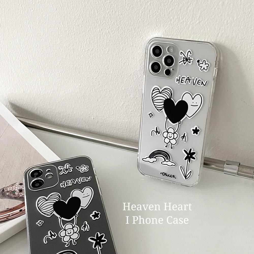 Heaven Heart Illustration Full Cover iPhone Case