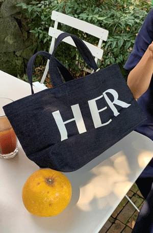 'HER' Indigo Denim Bag