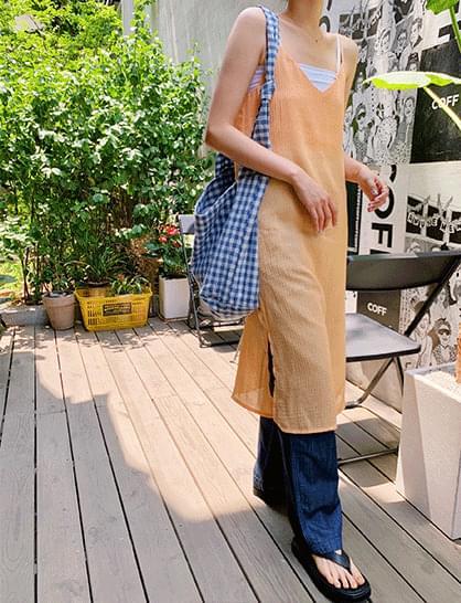 Orange Bustier Long Dress