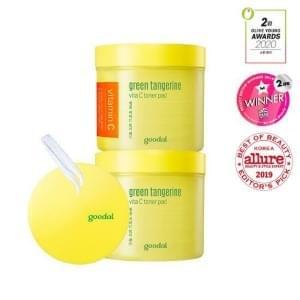 Goodal Green Tangerine Vita C Toner Pad Double Edition 70ea*2 #Skincare