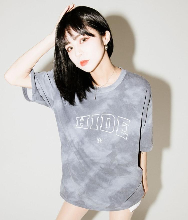 Hide Tie Die Graphic T-shirt @Hayoung