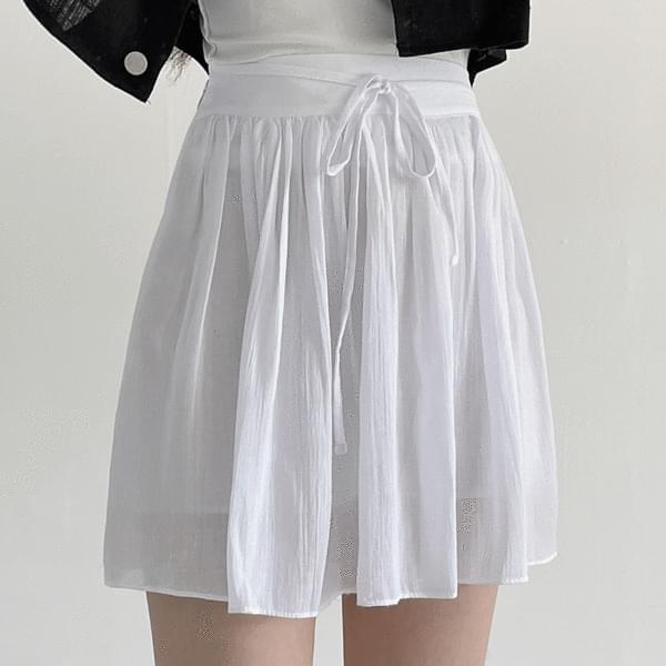 Milky Strap Banding Skirt