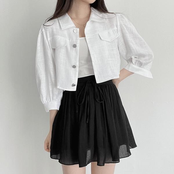 summer linen cropped jacket