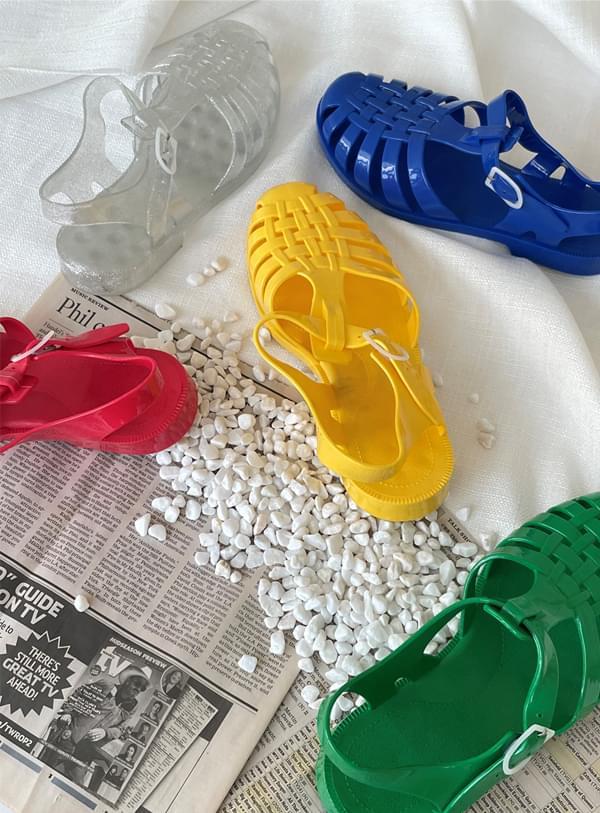 color pop jelly shoes
