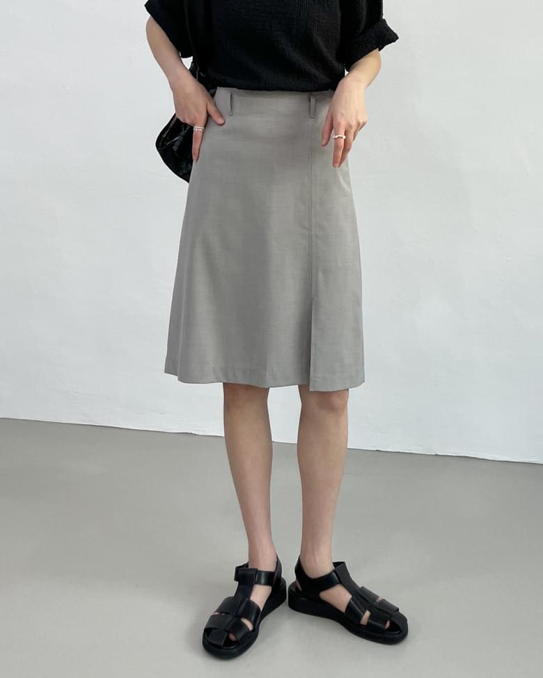 one slit midi skirt