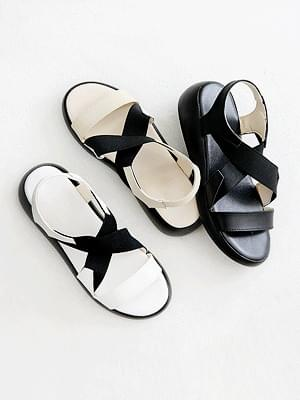 Perfect leather slingback sandals 4cm