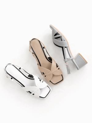 Clip Slingback Sandals 4cm