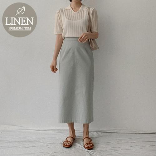 Mug Linen H Long Skirt