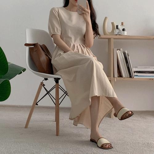 Ben round pleated long Dress
