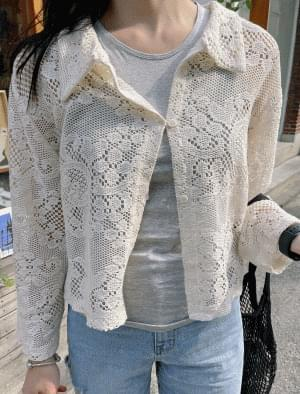 Florent punching lace cardigan