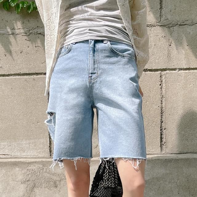 Sydney Cut Denim Half Pants