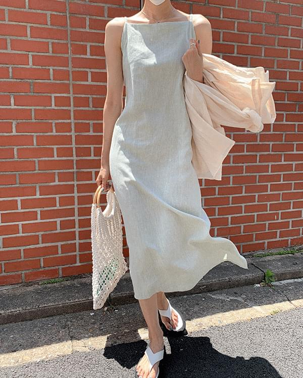 Mona Herringbone Sleeveless Long Dress