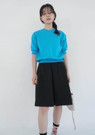 nylon pleats mini skirt