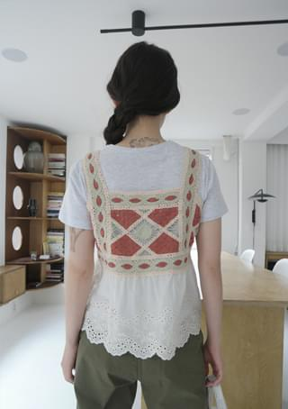 vintage crochet sleeveless