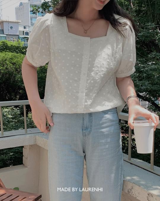 Lovely Lace Square Blouse - 1 color