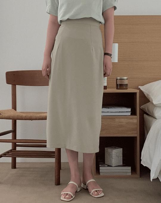 Slow H-line Long Skirt - 3 color