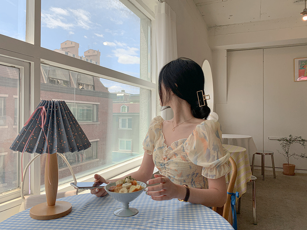 물나염셔링스모크 blouse