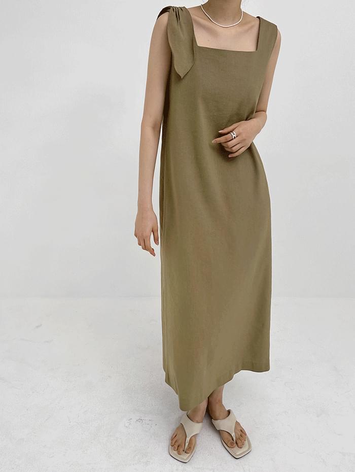 ribbon linen Dress