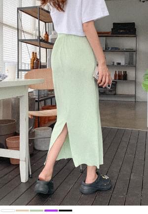 Kuanku Pop Pop Banding Long Skirt