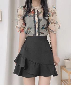 nura lace see-through blouse