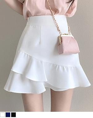 lata unbalance lace skirt