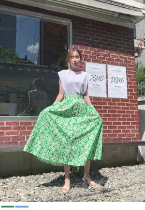 flower sparkly flared skirt