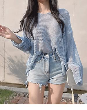 Bouche Bookle Loose-fit Fit Knitwear + Lofi Cut Short Pants