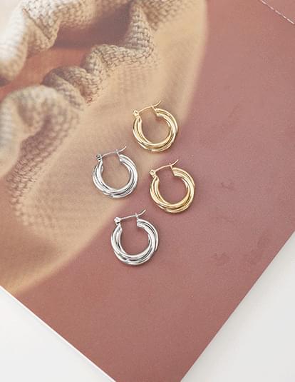 light circle earrings