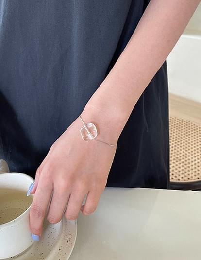 clear silky bracelet