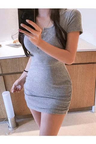 high button Dress