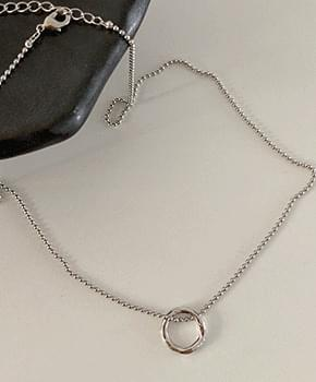 natur silver necklace