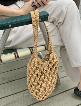 Cotton Knitwear Net Shoulder Bag