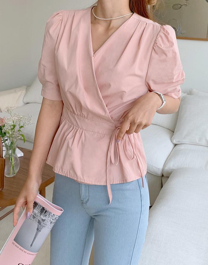 Loco V-Neck strap blouse
