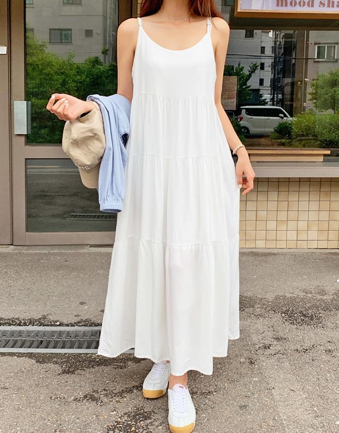 Soyer Sleeveless Cank Long Dress