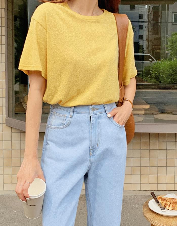Awesome Daily Linen Short Sleeve T-shirt