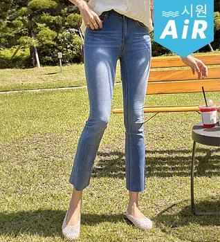 Cooler inner band slim denim jeans #79165
