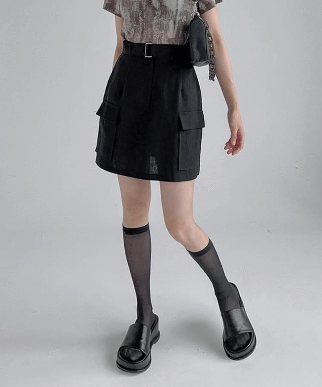 bogen belted mini skirt
