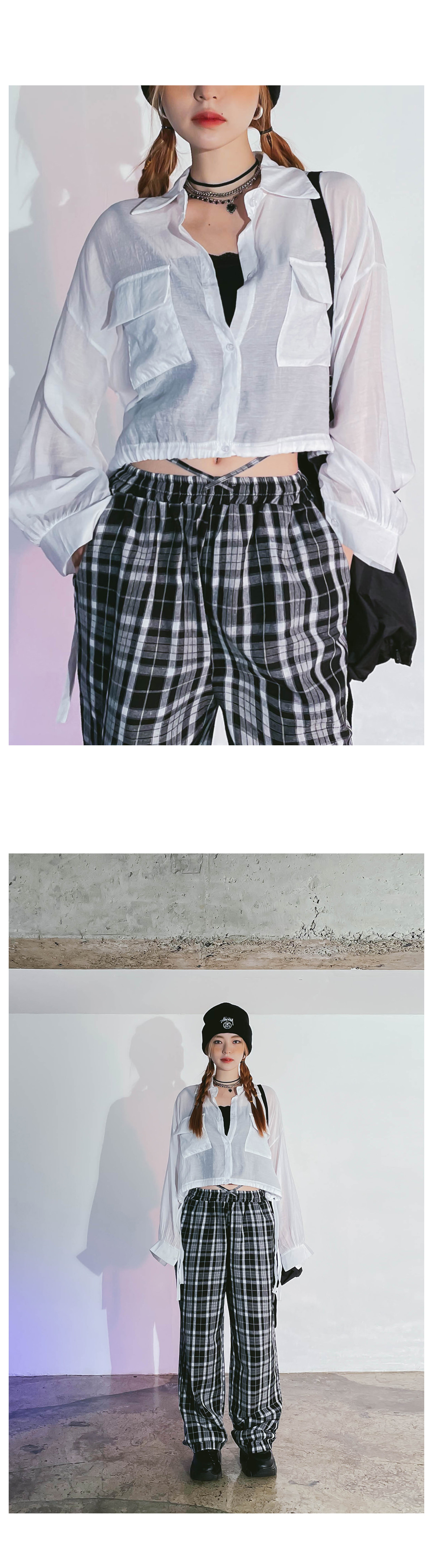 see-through loli cropped shirt